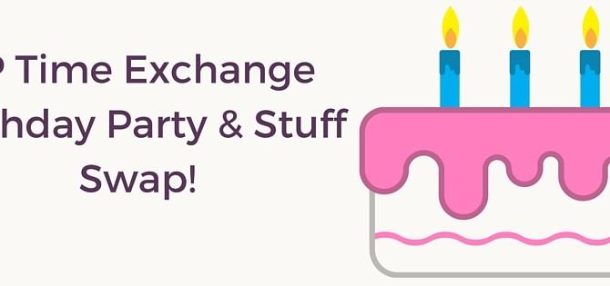 JP Time Exchange Birthday Party & Stuff Swap